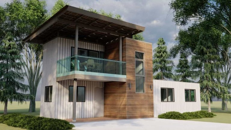 Shipping Container House Plan 1909201