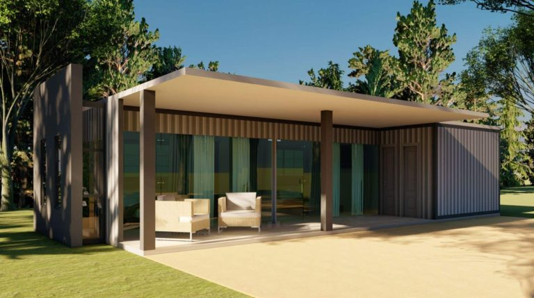 Shipping Container House Plan 1309201