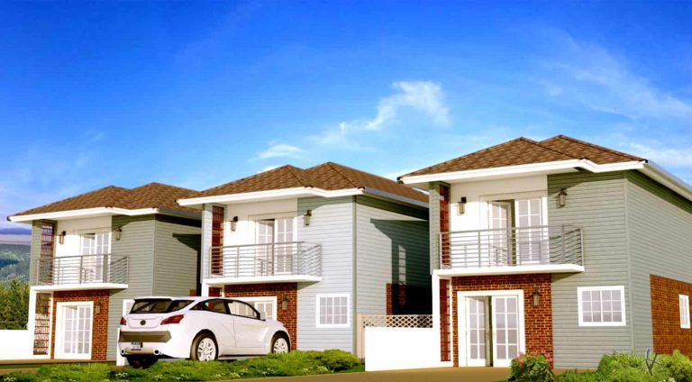 Small Two-storey Townhouse Plan 0309201