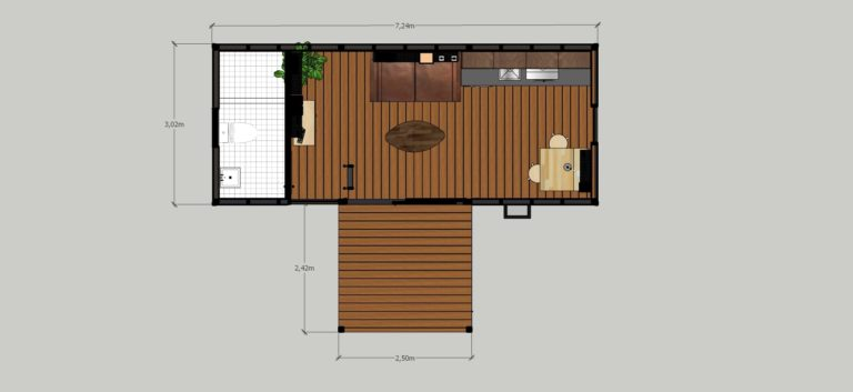tiny house ground floor