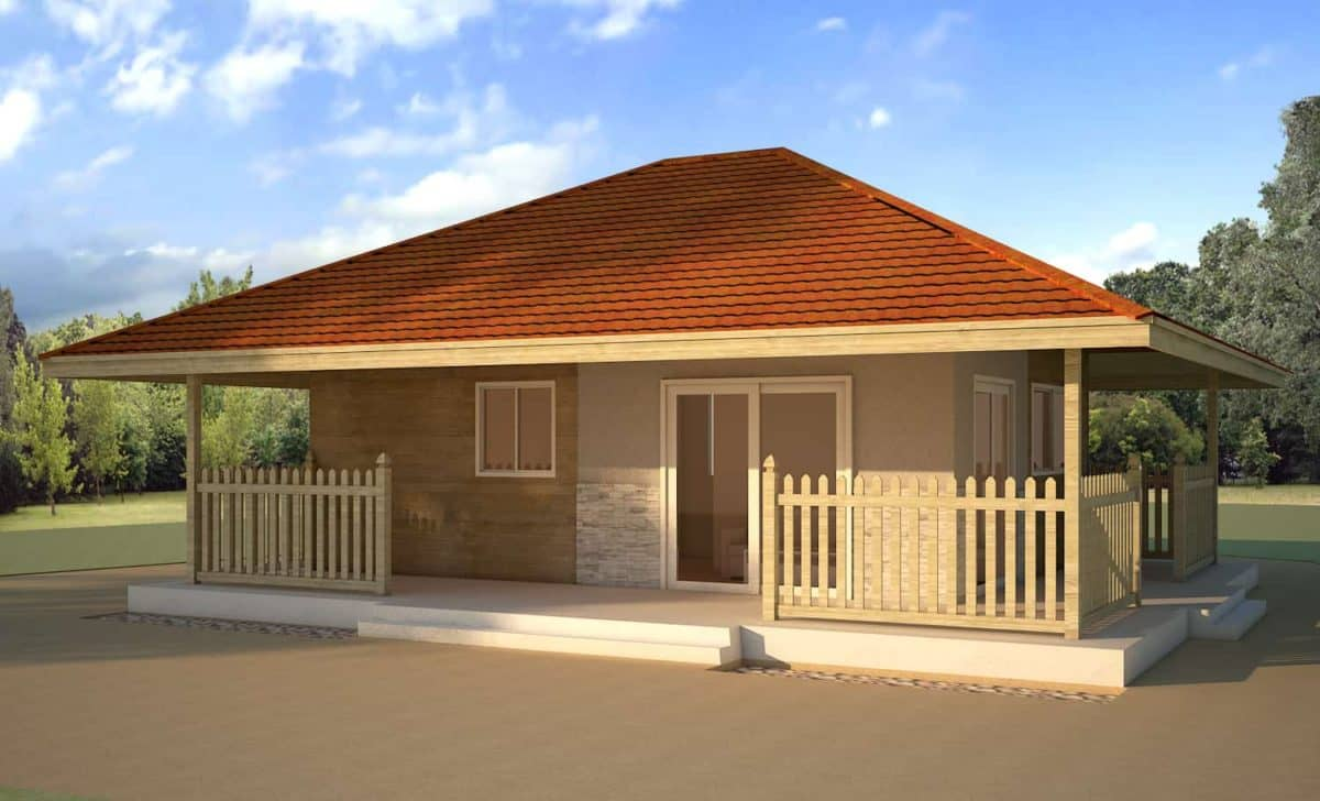 Two bedroom small bungalow house plans