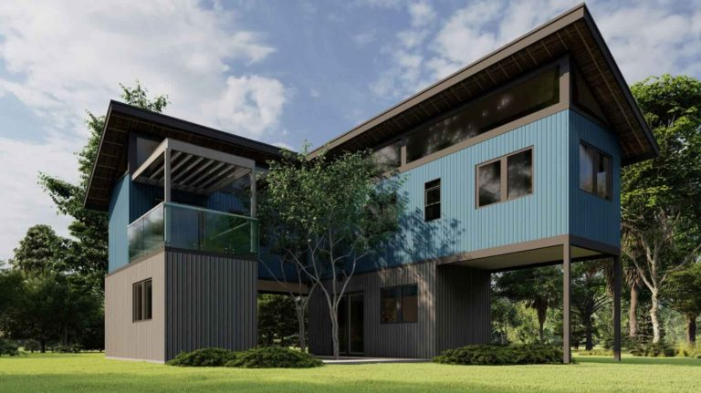 Two-storey Shipping Container House Plan 2410201