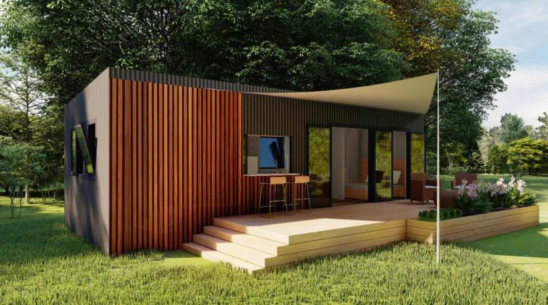 3 Bedrooms Tiny House Plan (No Loft)