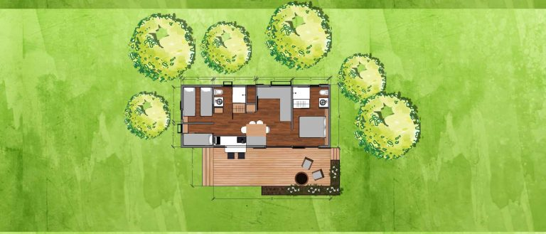 3 bedrooms tiny house plan
