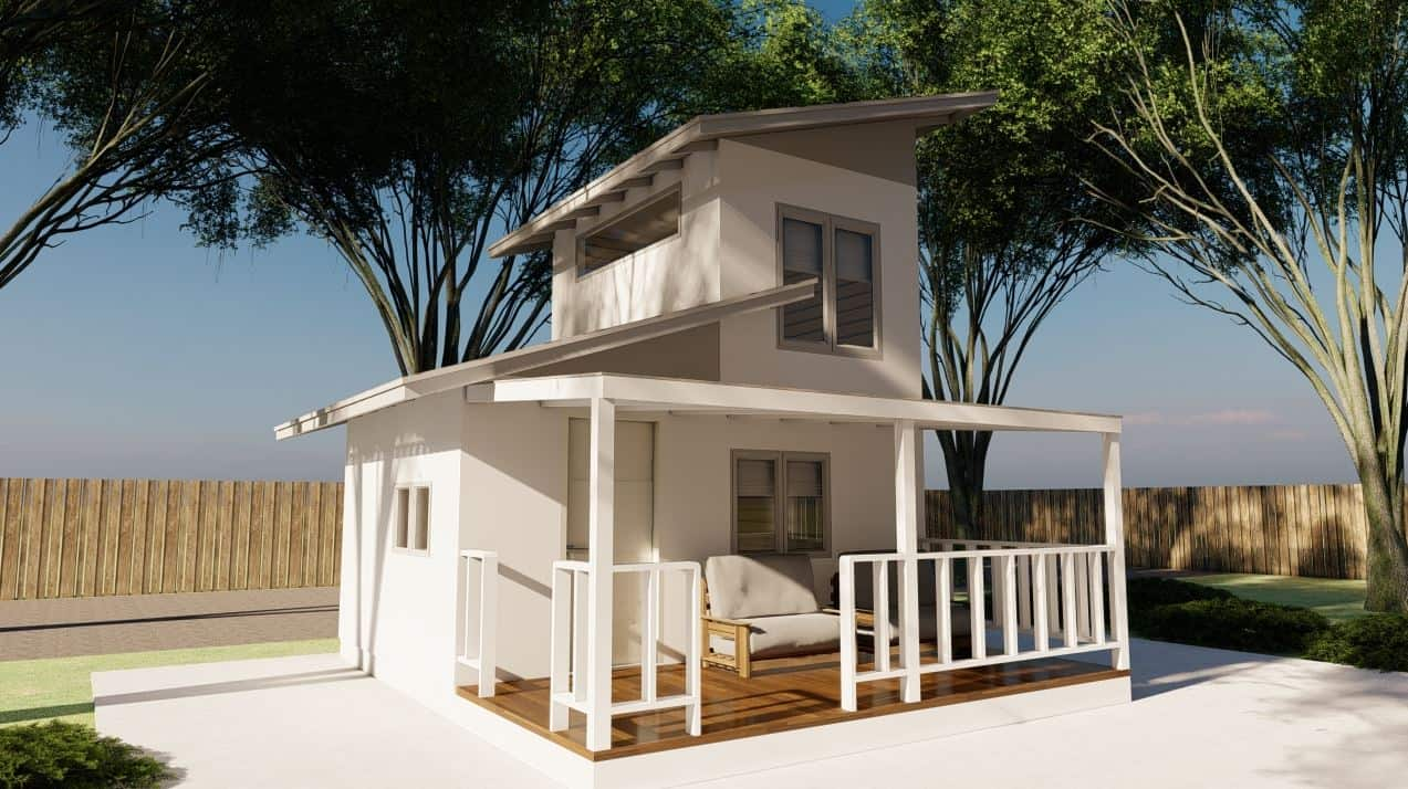 Tiny House Design With Minimalist Exterior Compact House Plans